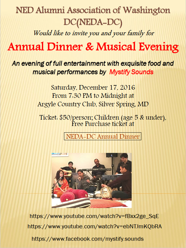 NEDA-DC Annual Musical Evening